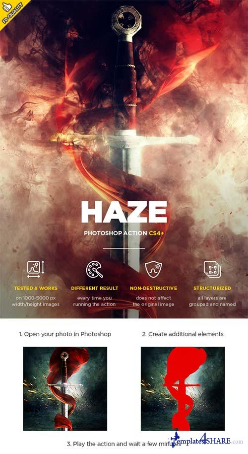 GraphicRiver Haze CS4+ Photoshop Action