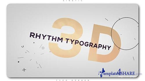3D Rhythm Typography Intro - After Effects Project (Videohive)