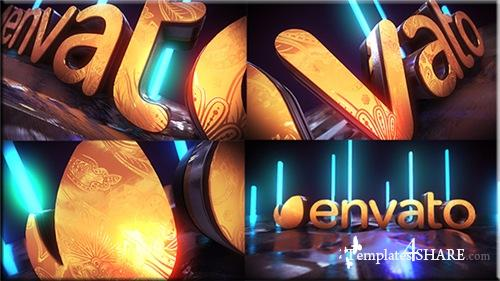Golden Neon Logo Intro - After Effects Project (Videohive)