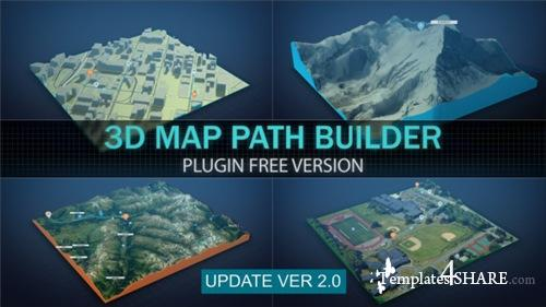 3D Map Path Builder - After Effects Project (Videohive)