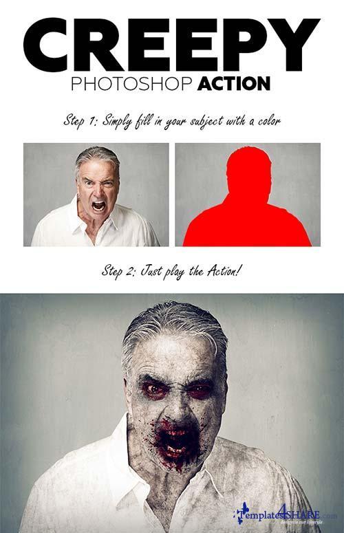 GraphicRiver Creepy Photoshop Action