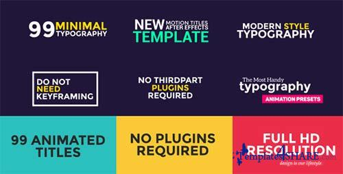 99 Titles Animation Pack - After Effects Project (Videohive)