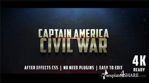 Civil War Cinematic Trailer - After Effects Project (Videohive)