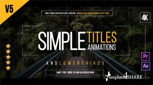 Gold Simple Titles - After Effects Project (Videohive)