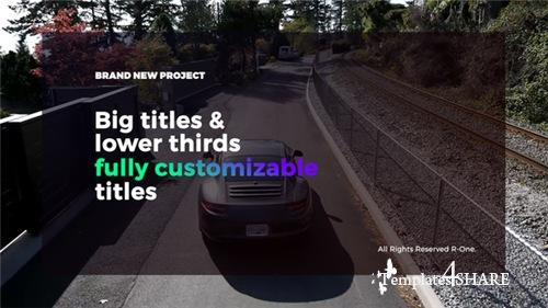 Big Titles & Lower Thirds - After Effects Project (Videohive)
