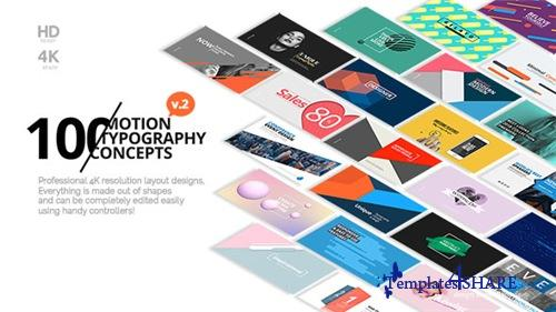 100 Motion Typography Concepts v2 - After Effects Project (Videohive)