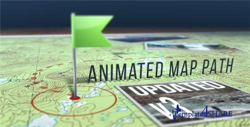 Animated Map Path v.3 - After Effects Project (Videohive)