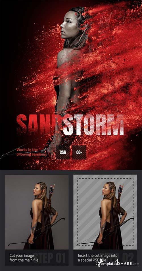 GraphicRiver Sandstorm Photoshop Action 21718057