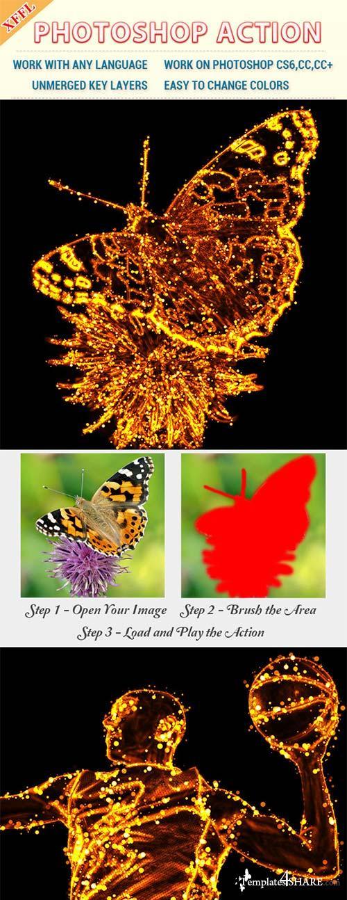 GraphicRiver Fire Dots Effect Photoshop Action