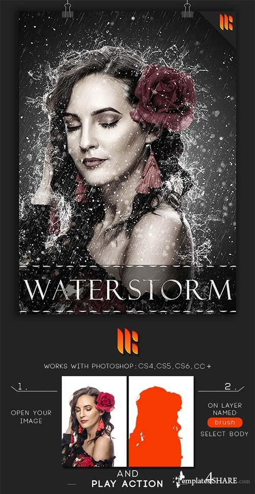 GraphicRiver WaterStorm Photoshop Action