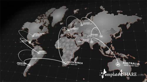 World Map Kit - After Effects Project (Videohive)