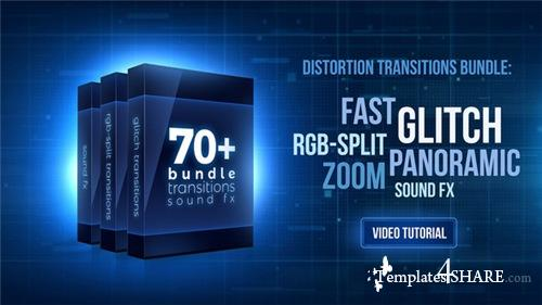 70+ Bundle: Glitch and RGB-split Transitions, Sound FX - Premiere Pro Templates (Videohive)