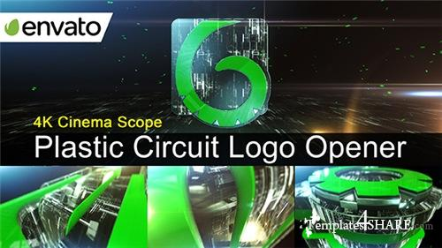 Plastic Circuit Logo Opener / Element 3D - After Effects Project (Videohive)