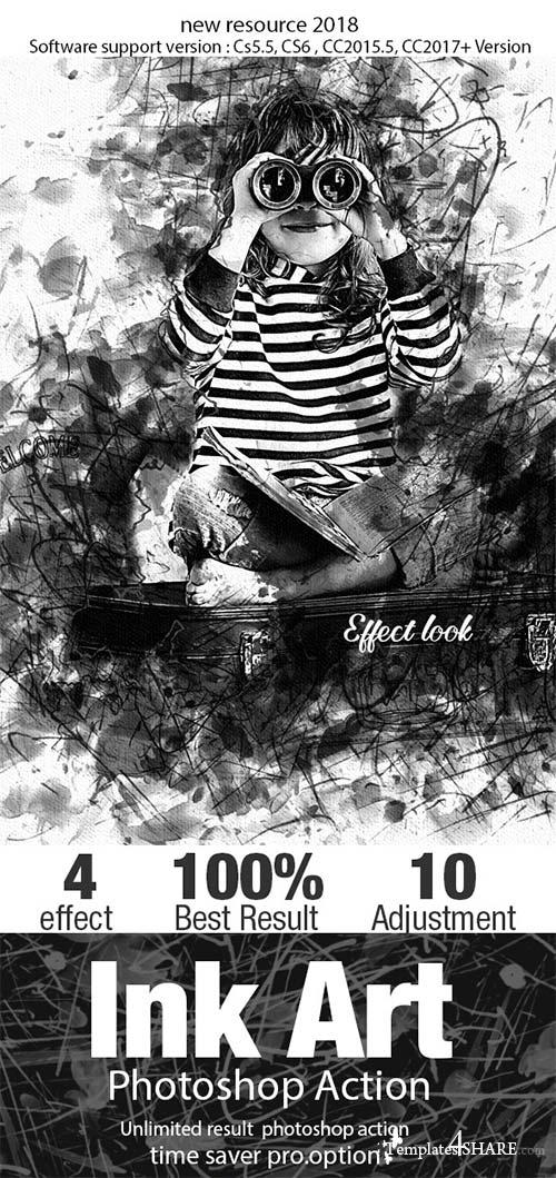 GraphicRiver Ink Art Photoshop Action