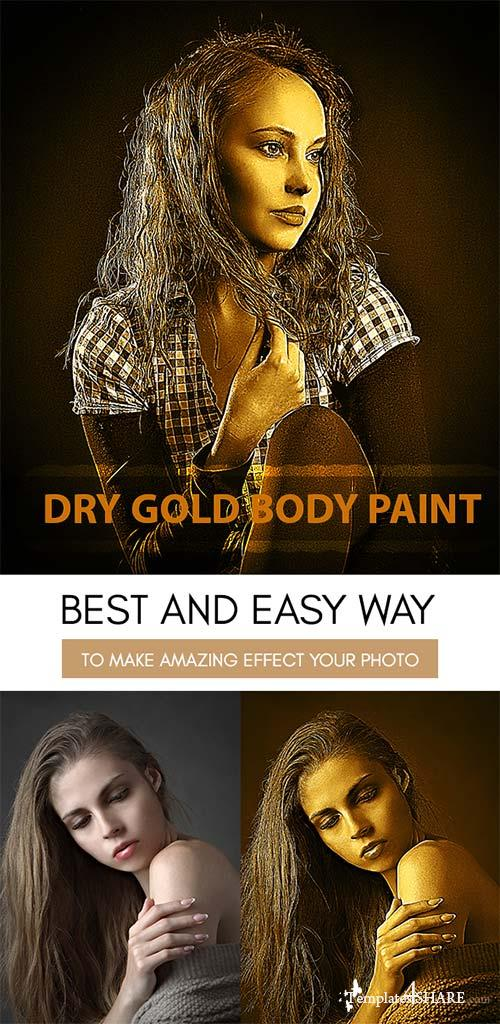 GraphicRiver Dry Gold Body Paint :: Photoshop Action