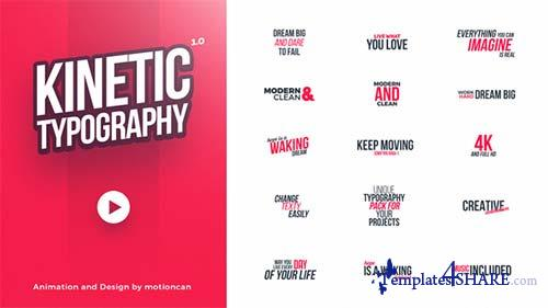 Kinetic Typography 20578796 - After Effects Project (Videohive)