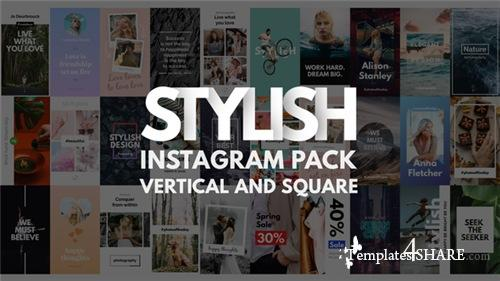Instagram Stories Pack | Vertical and Square - After Effects Project (Videohive)