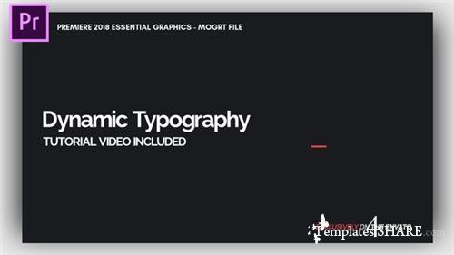 Dynamic Minimalism - Essential Graphics | Mogrt - Premiere Pro Template (Videohive)