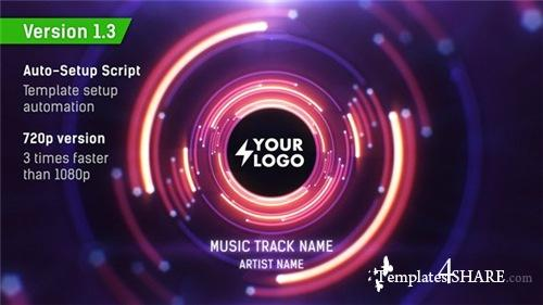 Audio React Tunnel Music Visualizer - After Effects Project (Videohive)