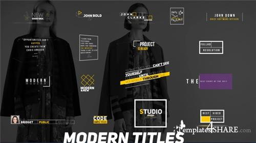 Modern Titles - After Effects Project (Videohive)