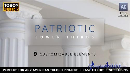 Patriotic Lower Thirds - After Effects Project (Videohive)
