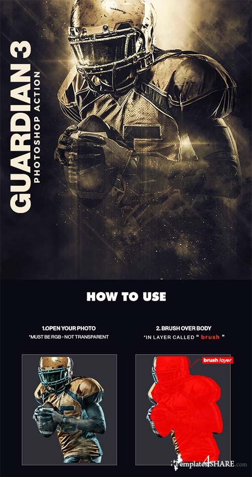 GraphicRiver Guardian 3 Photoshop Action