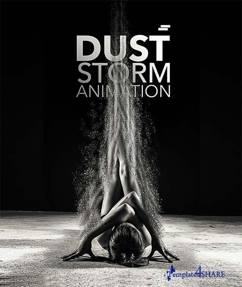 GraphicRiver Dust Storm Animation Photoshop Action