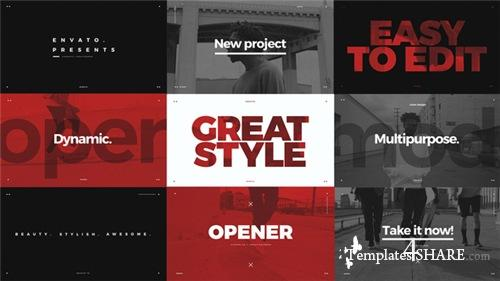 Modern Typo Opener - After Effects Project (Videohive)