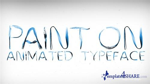 Paint On Animated Typeface - After Effects Project (Videohive)