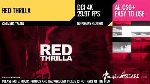 Red Thrilla (4K Cinematic Teaser) - After Effects Project (Videohive)