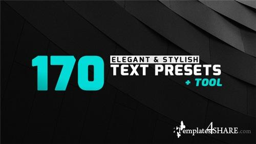 170 Elegant & Stylish Text Presets - After Effects Presets (Videohive)
