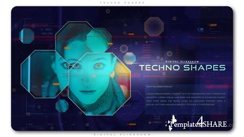 Techno Shapes Digital Slideshow - After Effects Project (Videohive)