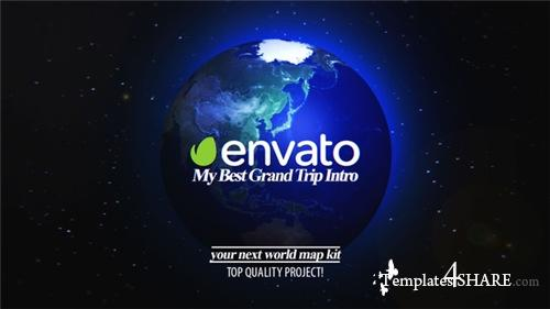 Best Grand Trip Intro | World Map Kit - After Effects Project (Videohive)