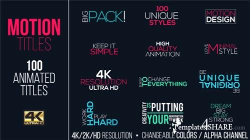 Motion Titles Pack 15383395 - After Effects Project (Videohive)