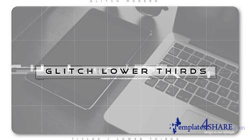 Glitch Modern Lower Thirds - After Effects Project (Videohive)