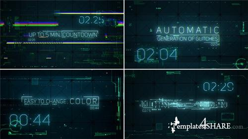 Hi-Tech Glitches (Countdown and Titles) - After Effects Project (Videohive)