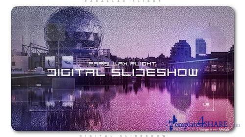 Digital Flight Parallax Slideshow - After Effects Project (Videohive)