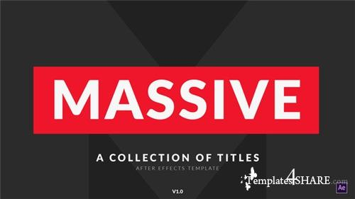 Massive | Titles Pack for After Effects - After Effects Project (Videohive)