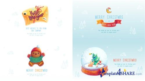 Christmas and New Year Greeting Cards - After Effects Project (Videohive)