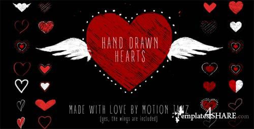 Hand Drawn Hearts - After Effects Project (Videohive)