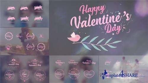 Valentine's Day Badge Pack - After Effects Project (Videohive)