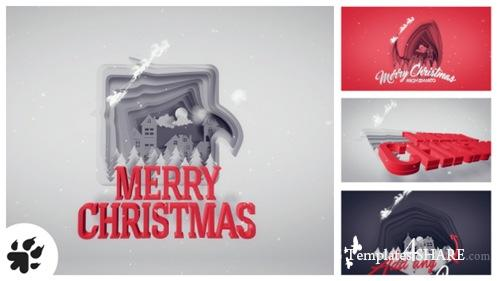 Christmas Greetings Paper Cut - After Effects Project (Videohive)