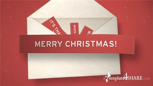 Christmas Envelope - After Effects Project (Videohive)