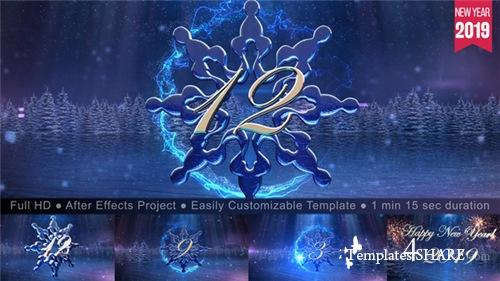 New Year Snowflake Countdown 2019 - After Effects Project (Videohive)