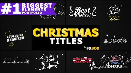 Christmas Titles And Transitions - After Effects Project (Videohive)