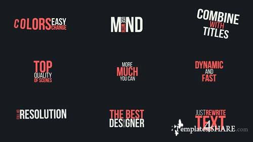 Typography Titles Pack - After Effects Project (Videohive)