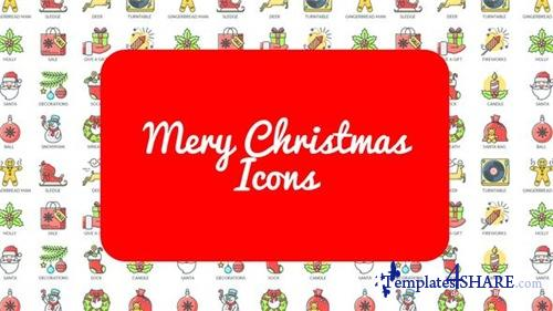 Mary Christmas - 30 Animated Icons - After Effects Project (Videohive)