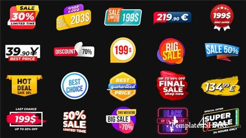 Animated Labels & Prices - After Effects Project (Videohive)