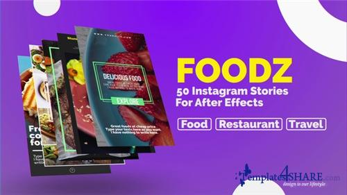 Foodz Instagram Stories - After Effects Project (Videohive)