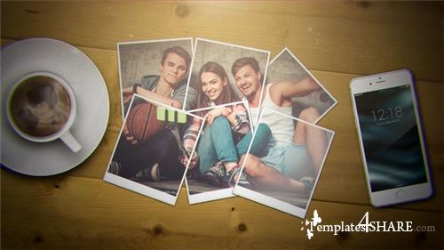 Wonderful Moments | Photo Gallery and Logo Reveal - After Effects Project (Videohive)